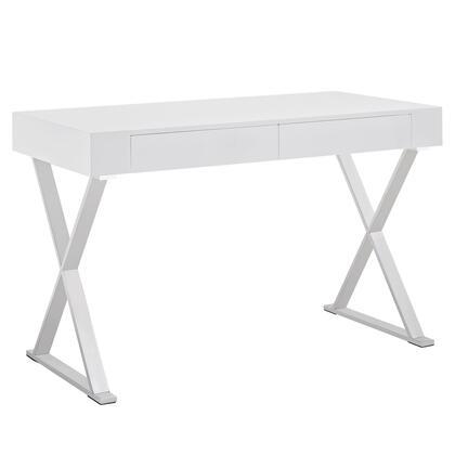 EEI-1183-WHI Sector Office Desk in White