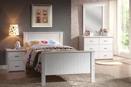 30020FDMN Bungalow Series Full Size Bed + Dresser + Mirror + Nightstand: