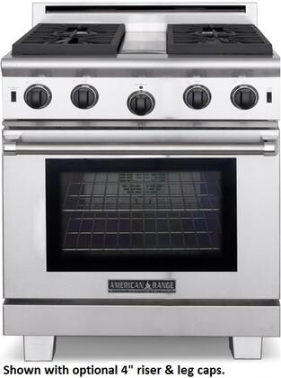 """ARROB430NG 30"""" Performer Series Natural Gas Range with  4.3 cu. ft. Oven Capacity  4 Open Burners  3 Size Burners  Ceramic Infrared Broiler and Convection Fan"""