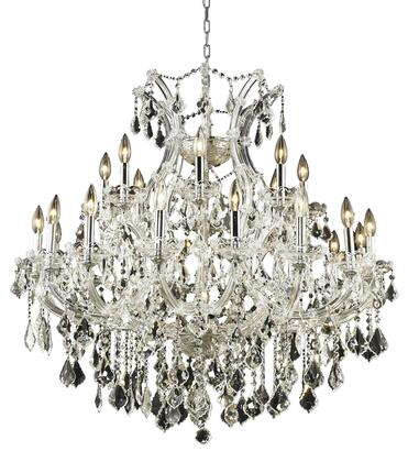 2800D36C/EC 2800 Maria Theresa Collection Hanging Fixture D36in H36in Lt: 24+1 Chrome Finish (Elegant Cut