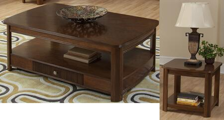 30712CE Leighla 2 Piece Occasional and Entertainment Table Set with Cocktail Table and End Table  in