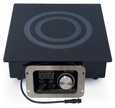 RR-1234R 12 inch  Radiant Cooktop with Single 1400 Watt Element  24 Hour Timer  11 Power Setting  in