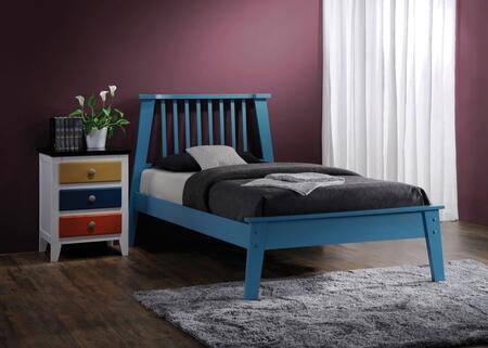 Marlton Collection 25405TN 2 PC Bedroom Set with Twin Size Bed + Nightstand in Blue