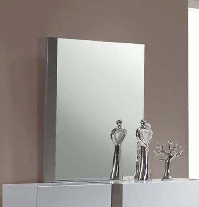 Manila Series Manila-mir 41.34 Bedroom Accent Mirror In Gloss White & Grey