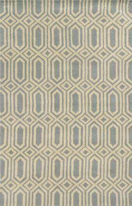Jlpjp8778lb000810 Julian Pointe Jp8778-8 X 10 Hand-tufted 100% Premium Blended Wool Rug In Light Blue  Rectangle