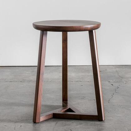 Oslo Collection OSC-55-MW 14 inch  Side Table with Walnut Wood Construction and Stretcher in Medium