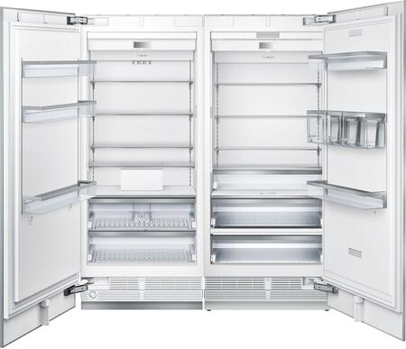 72 inch  Side-by-Side with T36IR900SP 36 inch  20.6 cu. ft. Capacity Built In Fresh Food All Refrigerator and T36IF900SP 36 inch  19.4 cu. ft. Capacity Freezer