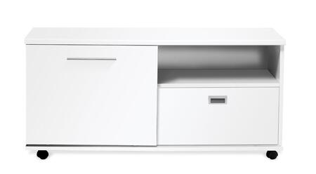 523-WH White Lacquer Low Side Cabinet with