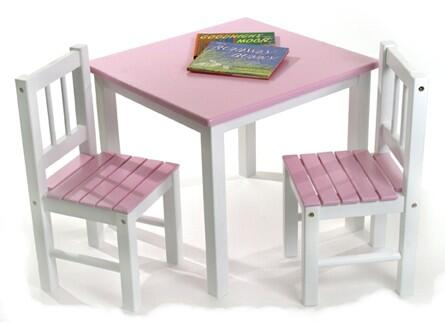 513PK Pink and White Table with
