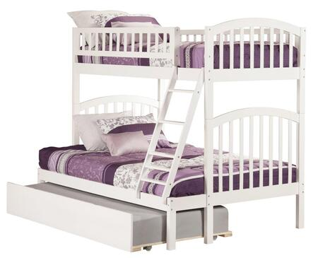 Richland AB64252 Twin Over Full Bunk Bed With Urban Trundle Bed In