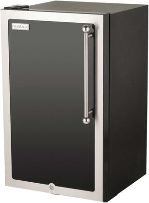 3590H-DL Echelon Black Diamond Series Outdoor Compact Refrigerator  in Black and Left
