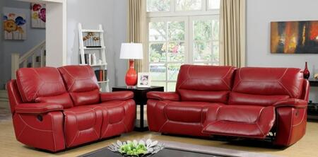 Newburg Collection CM6814RD-SL 2-Piece Living Room Set with Motion Sofa and Motion Loveseat in