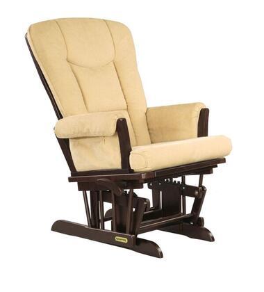 37457KD.02.0161 Espresso Super Comfortable Glider - Vista Biscuit