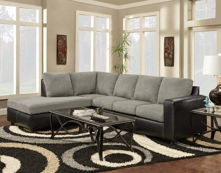 193650-sec-sg Hartford 2 Pc Sectional With Left Arm Facing Chaise  Right Arm Facing Sofa  Hi-density Foam Cores And Fabric Upholstery In Sensations