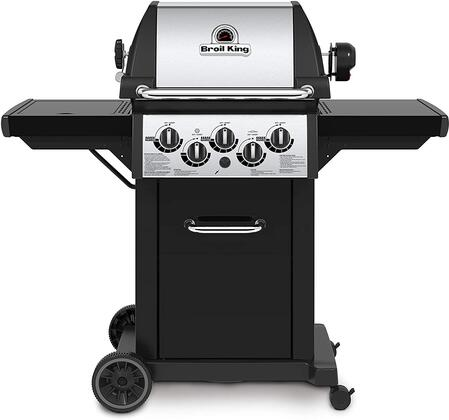 834287 Monarch 390 Natural Gas Grill with 3 Burners  30000 BTU Main Burner Output  10000 BTU Side Burner and 12000 BTU Rotisserie Burner  330 sq. in. Cooking