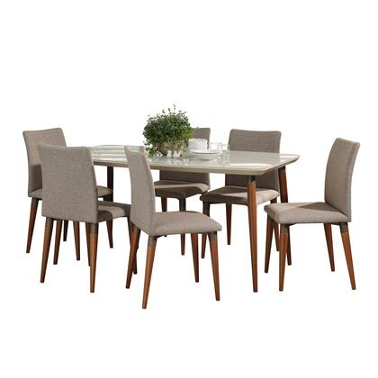 2-10127521011453 7-Piece Dining Room Set with Charles 63