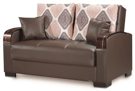 Mobimax Collection MOBIMAX LOVE SEAT BROWN PU 27-449 65