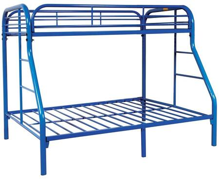 Sade Collection 9701-BU Twin Over Full Bunk Bed with 2