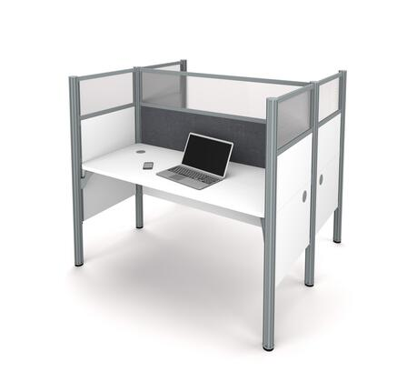 100870DG-17 Pro-Biz Double face to face workstation in White with Gray Tack