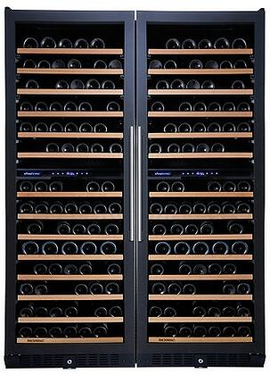 237870387 N'FINITY PRO Double LX Wine Cellar with 374 Wine Bottles Capacity  Cool Blue LED Lighting  Digital Climate Control  Odor Free  and UV Protected  in