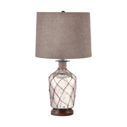 289 Jute-Wrapped Mercury Glass Table Lamp Mercury