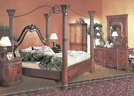 7651k Elizabeth King Poster Bed In Cherry