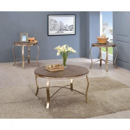 Wicklow Collection CM4364-3PK 3-Piece Table Set with Coffee Table and 2x End Tables in Rustic Oak and