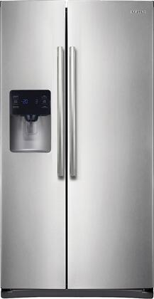 "RS25H5111SR 36"" Side-By-Side Refrigerator with 24.5 Cu. Ft. Capacity  LED Tower Lighting  Twin Cooling Plus  In-Door Ice Maker  Digital LED Display  and Power"
