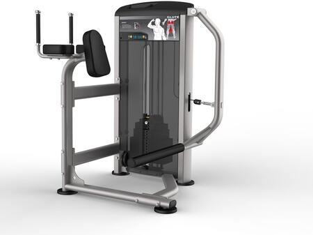 E-4991 Platinum Series 9526 Glute Machine with 200 lbs. Incremental Weight Stack  Military Grade Cables and High-Tech Oval Tubing in Black and