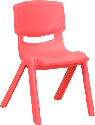 YU-YCX-001-RED-GG Red Plastic Stackable School Chair with 12'' Seat