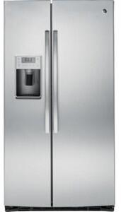 GE Profile Series 25.4 Cu. Ft. Side-By-Side Refrigerator with Thru-the-Door Ice and Water Stainless Steel PSE25KSHSS