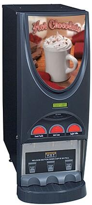 36900.0004 iMIX-3 Black Hot Beverage System With 3 Hoppers  LED Lighted Front Graphics  Night Mode  in