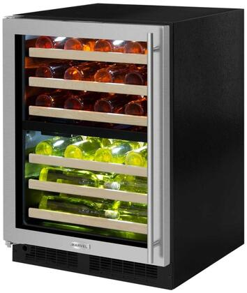 ML24WDG3LS 24 inch  Marvel High-Efficiency Dual Zone Wine Refrigerator with Dynamic Cooling Technology  Vibration Neutralization System  Thermal Efficient Cabinet