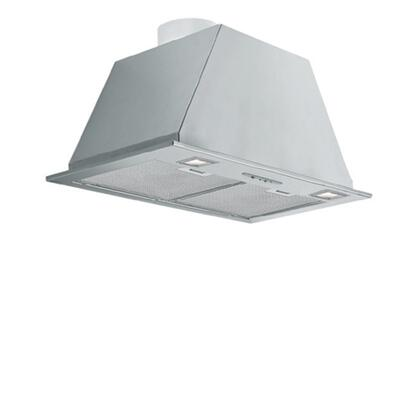 FISAB22B3SS 22 inch  Insert Collection Sabina Insert with 280 CFM  Metallic Filters  Halogen Lighting and 3 Speed Slider Control in Stainless