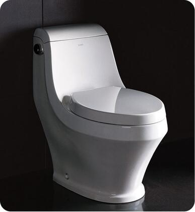 "Volna Collection FTL2133 28"" One-Piece Contemporary Toilet with Elongated Bowl  Stain Resistant Polish and UPC"