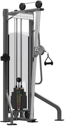 E-4523 Titanium Series Adjustable Hi/Lo Pulley Machine with 275 lbs. Incremental Weight Stack  Military Grade Cables and High-Tech Oval Tubing in Black and