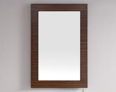 Metropolitan Collection 850-M30-AWT 30 inch  x 42 inch  Mirror with Recessed Keyhole Brackets  Beveled Glass and Wood Frame in American