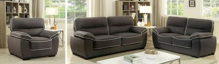 Elly Collection CM6504-SLC 3-Piece Living Room Set with Stationary Sofa  Loveseat and Chair in