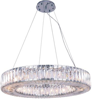2116D32C/RC 2116 Cuvette Collection Chandelier D:32In H:5.11In Lt:20 Chrome Finish (Royal Cut