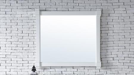 Brittany Collection 650-M43-CWH 43 inch  x 39 inch  Mirror with Solid Kiln-Dried Wood Frame and Molding Details in Cottage