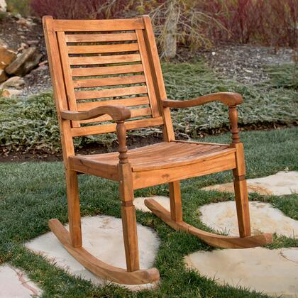 OWRCBR Solid Acacia Wood Rocking Patio Chair in