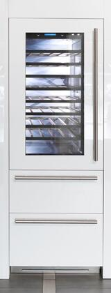 FI30BDW-LGO 30 inch  Integrated Series Built-in Wine Cellar with 72 Bottle Capacity  5.5 cu. ft. Total Refrigerator Capacity  Riserva  TriMode  9 Wooden Shelves and