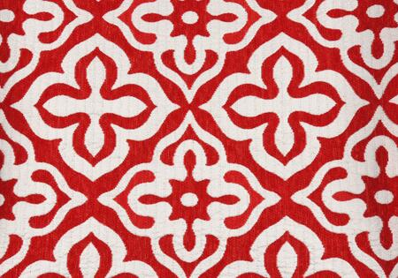 I 9222 Pillow - 18 inch X 18 inch  / Red Motif Design /
