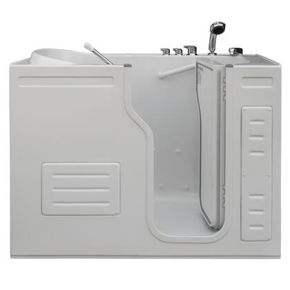 Aurora HY-1223R 51 inch W x 29.5 inch D x 42 inch H Inward Opening Accessible Walk-In Tub with Heated Air Jets and Right Hand Drain in