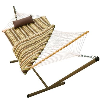 8911E 144 inch  Cotton Rope Hammock  Stand  Pad and Pillow Combination in