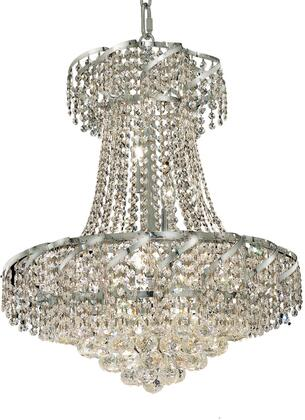 VECA1D22C/RC Belenus Collection Chandelier D:22In H:26In Lt:11 Chrome Finish (Royal Cut