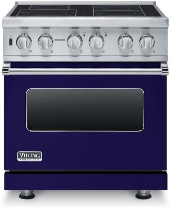 """Professional 5 Series VISC5304BCB 30"""" Electric Induction Range with MagneQuick Induction Elements Vari-Speed Dual Flow Convection Gourmet-Glo Infrared"""