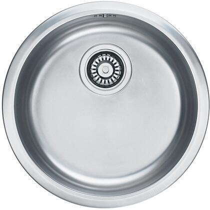 RBX-110 Rotondo Series 17 Topmount or Undermount Single Bowl Round Sink in Stainless