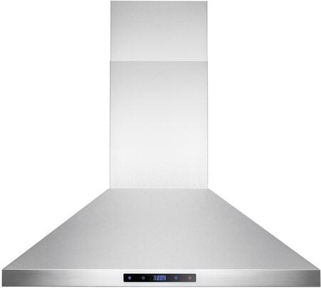 RH0171 30 inch  Wall Mount Range Hood with 400 CFM  Touch Panel Controls  4 Speed Control and 6 LED Lights  in Stainless