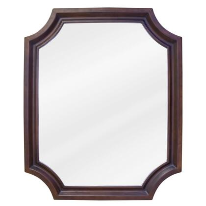 MIR050 Bath Elements 22 inch  x 27 inch  Toffee Abbott Mirror with Beveled